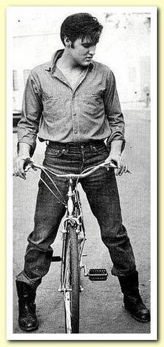 Elvis on a bike