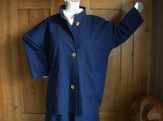 Traumhafte Lagenlook Jacke, Jeans blau , Grössen von 48 - 64