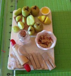 Polymer Clay Apple Pie Prep Board