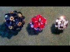 getlinkyoutube.com-Beading4perfectionists : beaded bicone ball (soccerball) with Swarovski beads, beading tutorial