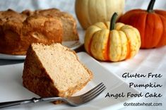 Pumpkin pie and angel food got married and the result is pure awesomeness. Gluten Free Pumpkin Pie Angel Food Cake (dairy free as well!) [Gluten Free Dessert Idea]