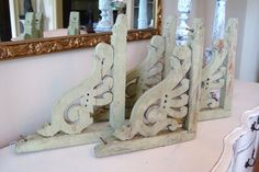 Antique Architectural Salvage Corbels Chippy by edithandevelyn, $95.00