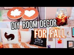 DIY Room Decor For Fall! Make Your Room Cozy: No-Sew Pillow, Tumblr Decorations & More! - YouTube