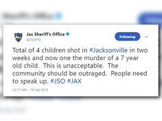 ICYMI: JSO: 'Community should be outraged' after 4 children shot in 2 weeks in Jax - First Coast News