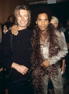 Bowie and Lenny Kravitz. Too much awsomeness in one picture
