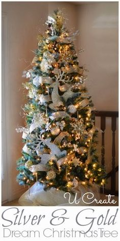 Silver and Gold Christmas Tree by U Create