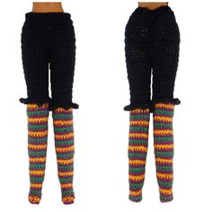 Rebeckah's Treasures: Crochet Barbie Witch Knickers & Leggings ~ Halloween Barbie Costume