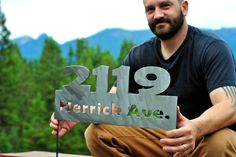 Plasma cut address sign with your name and number