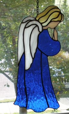 9e907cc0982 Blue Angel Stained Glass by CJ Boyette