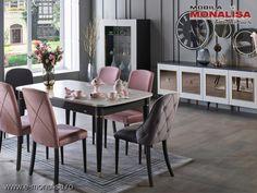 Mobila Living modern de Lux original Prada gri antracit si bej Dining Table, The Originals, Interior, Furniture, Design, Home Decor, Simple Lines, Decoration Home, Indoor