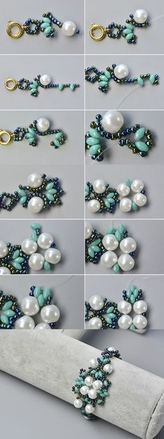 6d92f59319f2 Like the 2-hole seed beads flower bracelet The details will be published by