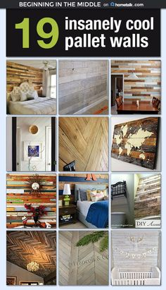 If you're a fan of pallets then you're gonna love these! I want this in every room of my house!