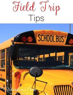 These field trip tip