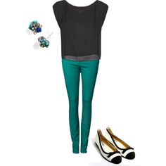 Love the teal pants - with my cute black Limited top?