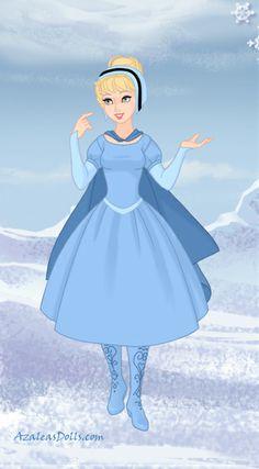 Cinderella made using Snow Queen game by Azalea's Dolls Disney Dolls, Disney Princesses, Create Your Own Character, Azalea Dress Up, Doll Divine, Modern Disney, Dress Up Dolls, Up Game, Snow Queen