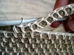 crochet over rope to make a basket