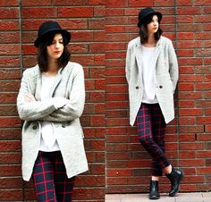 Get this look: http://lb.nu/look/6220557  More looks by Nora Aradi: http://lb.nu/norya  Items in this look:  Choies Coat, Choies Pants, Asos Boots, H&M Hat   #spring #masculine