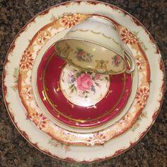 Vtg 5 pc Mismatch Fine China Place setting Dinnerware Noritake Haviland, Aynsley  | eBay