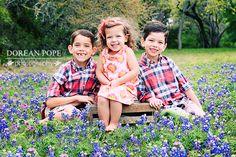 sibling bluebonnet portrait; austin child photographer, dorean pope photography