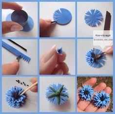 DIY Tutorial FIMO Polymer clay - flower: