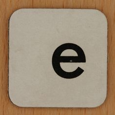 Word Making & Anagrams letter e by Leo Reynolds, via Flickr