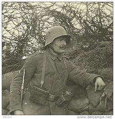 WWI, German soldier in Flanders. -delcampe