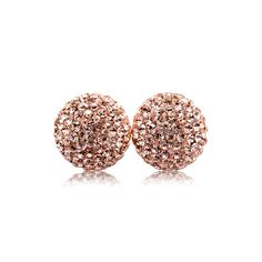 Rose Gold Sparkle Ball Studs  Bought and now I'm hooked... Need them in every colour!