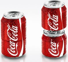 This special Cola-Cola can splits into two to encourage sharing!