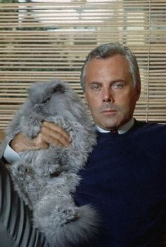 giorgio armani with cat....purrfect elegance at its finest!