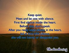 Be 1 with silence