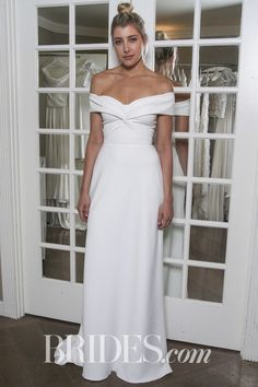 Off-the-Shoulder Wedding Dress by Halfpenny
