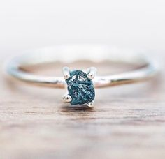 Raw Ocean Diamond Ring || Available in our RAW Collection