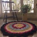 Crochet colorful  handmade rug