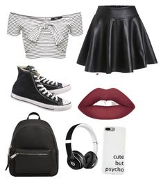 """"" by ellag130 on Polyvore featuring Converse, MANGO and Beats by Dr. Dre"