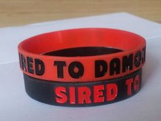 Items similar to Sired to Damon Wristband, a wristband for lovers of Damon from The Vampire Diaries on Etsy Damon, Coffee Cans, Cuff Bracelets, My Etsy Shop, Trending Outfits, Unique Jewelry, Handmade Gifts, Red, Bobs
