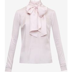Ted Baker Oversized neck tie jumper (€175) ❤ liked on Polyvore featuring tops, sweaters, pink sweater, long sleeve jumper, oversized jumper, high neck top and ted baker sweater
