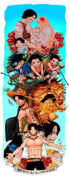 One Piece, Portgas D. Ace, Gol D. Roger, Portgas D. Rouge, Sabo, Luffy