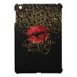 Beauty Injector with Gold Confetti & Red Lips iPad Mini Cover