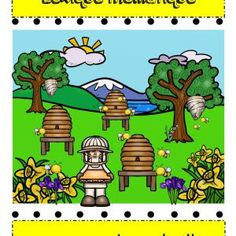 Vocabulaire-lexique- Abeilles- Caroline Gingras Créations Creations, Fictional Characters, Spelling, Bees, Vocabulary, Fantasy Characters