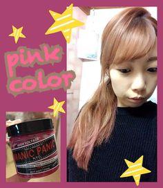 WEBSTA @ miccherun - ほんのりピンク♥︎#MANICPANIC #マニパニ#haircolor#selfcoloring#コットンキャンディが好き#今回は残ってたホットピンクで#pinkラブ