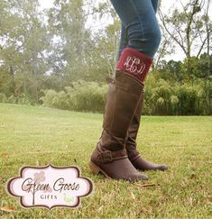 Darling Monogrammed Boot Toppers :)