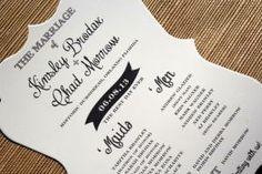 K&C Wedding Vintage Die Cut Program designed by Darcy Sang