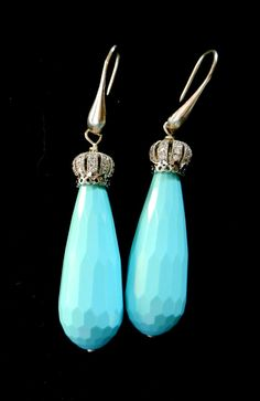 Liberty revival long drop turquoise and crown by RAKcreations
