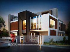 Best House Exterior Dream Homes Shipping Containers 36 Ideas Modern Bungalow Exterior, Bungalow House Design, House Front Design, Exterior House Colors, Modern House Design, Front Elevation Designs, House Elevation, 3d Home, Modern Mansion