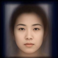 Average face of 120 Japanese women