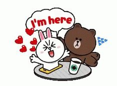 The perfect Cony Brown Cute Animated GIF for your conversation. Discover and Share the best GIFs on Tenor. Cute Cartoon Images, Cute Couple Cartoon, Cute Love Cartoons, Cartoon Gifs, Gifs Amor, Cony Brown, Brown Bear, Bear Gif, Cute Love Gif