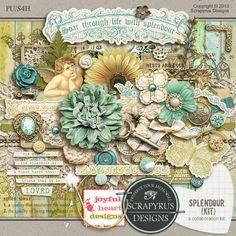 Splendour | Kit Just gorgeous kit by Scrapyrus Designs!
