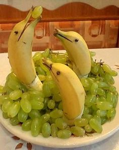 DIY Dolphin Bananas In Grapes Tutorial.This Is The First Time...