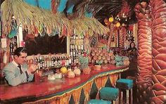 Critiki is a guide to over tiki bars, Polynesian restaurants and other sites of interest to the midcentury Polynesian Pop enthusiast. Part historic archive, part travel guide, and all tiki. Vintage Tiki, Vintage Hawaii, Vintage Travel, Retro Vintage, Tiki Art, Tiki Tiki, Kitsch, Tiki Decor, Tiki Lounge