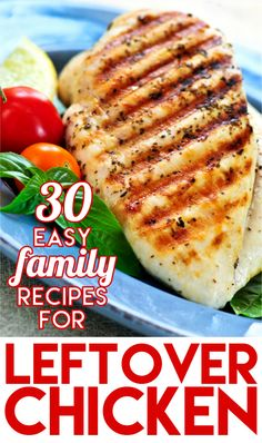 This Huge List Of Chicken Dinner Ideas Is Perfect If You Have Leftover Chicken Or Pick Up A Rotisserie Chicken From The Grocery Store. Family-Friendly, Easy, Inexpensive Dinner Ideas Using Chicken Leftover Chicken Recipes, Easy Chicken Dinner Recipes, Leftovers Recipes, Delicious Dinner Recipes, Yummy Food, Pre Cooked Chicken, Rotisserie Chicken, How To Cook Chicken, Easy Family Meals
